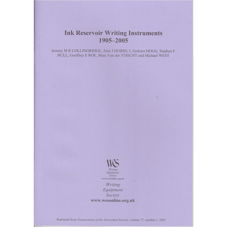 Booklet Ink Reservoir Writing Instruments 1905 - 2005