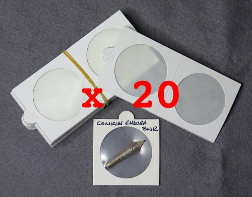 Self-Adhesive Mounts x 20, 50mm x 50mm to store pen nibs